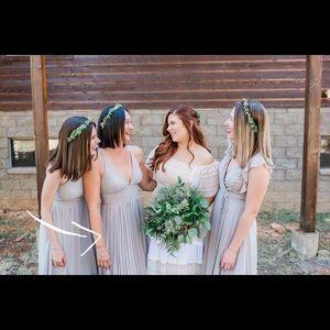 Grey maxi dress worn once for a wedding!